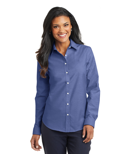 L658 Port Authority® Ladies SuperPro™ Oxford Shirt