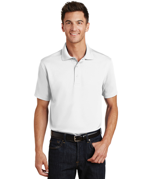 K497 Port Authority® Poly-Charcoal Blend Pique Polo