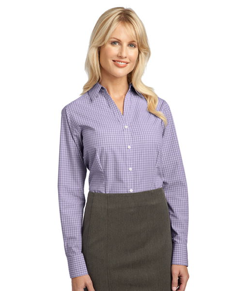 L639 Port Authority® Ladies Plaid Pattern Easy Care Shirt