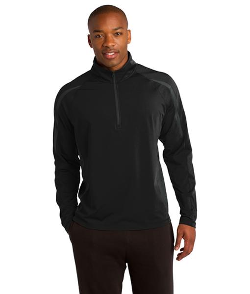 ST851 Sport-Tek® Sport-Wick® Stretch 1/2-Zip Colorblock Pullover