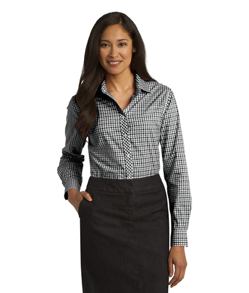 L654 Port Authority® Ladies Long Sleeve Gingham Easy Care Shirt