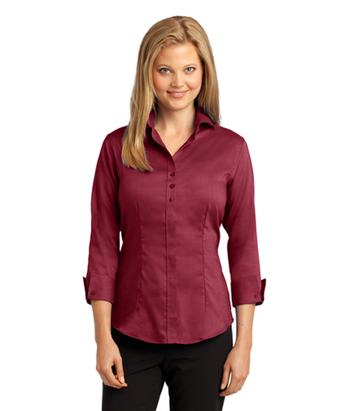 RH69 Red House® Ladies 3/4-Sleeve Nailhead Non-Iron Shirt