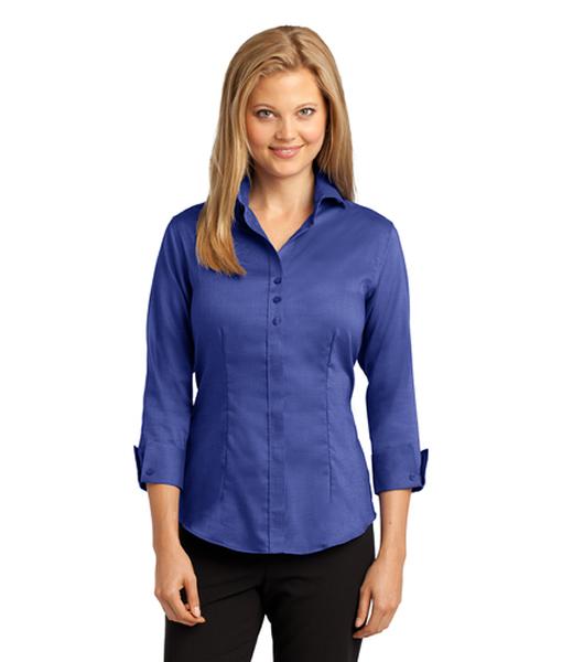 RH69 Red House® Ladies 3/4-Sleeve Nailhead Non-Iron Shirt