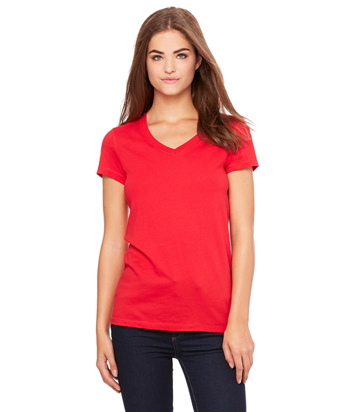 B6005 Bella + Canvas Ladies' Jersey Short-Sleeve V-Neck T-Shirt