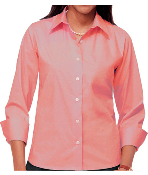 BG6218 - LADIES' EASY CARE STRETCH POPLIN BLOUS