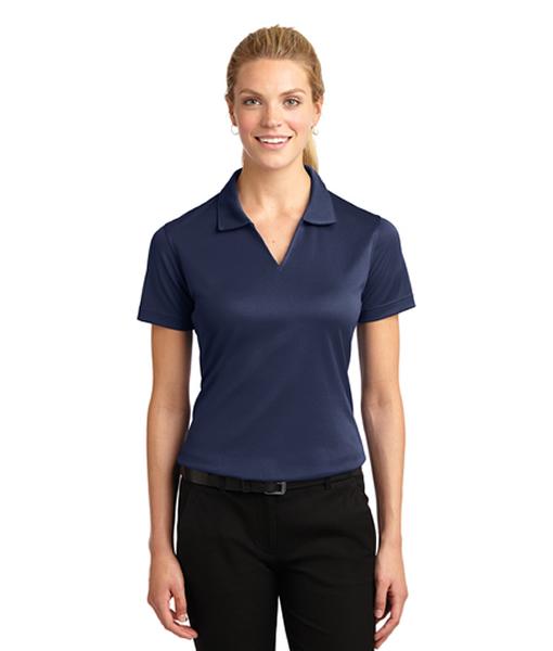 L469 Sport-Tek® Ladies Dri-Mesh® V-Neck Polo