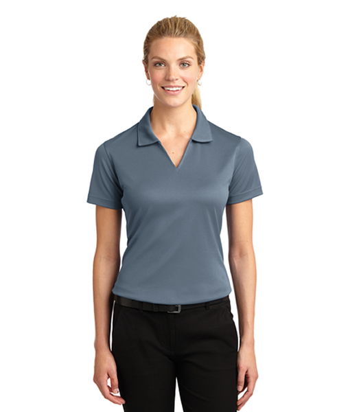 L469 Sport-Tek® Ladies Dri-Mesh® V-Neck Polo