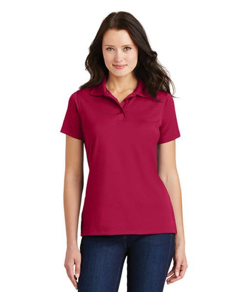 L497 Port Authority® Ladies Poly-Charcoal Blend Pique Polo