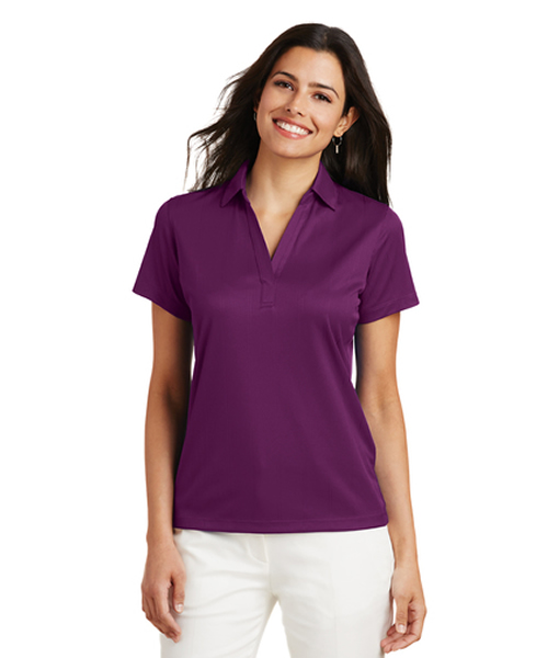 L528 Port Authority® Ladies Performance Fine Jacquard Polo