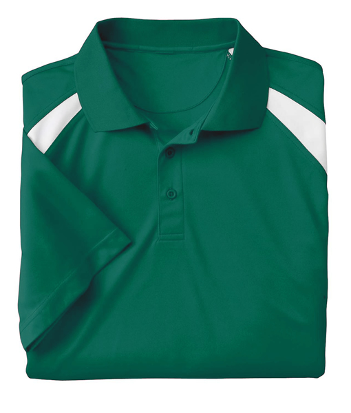 Harriton Adult 4 oz. Polytech Colorblock Polo