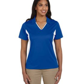 M355W Harriton Ladies' Side Blocked Micro-Piqué Polo