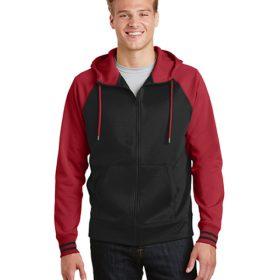 ST236 Sport-Tek® Sport-Wick® Varsity Fleece Full-Zip Hooded Jacket