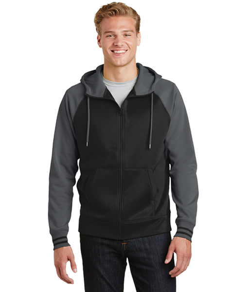 ST236 Sport-Tek® Sport-Wick® Varsity Fleece Full-Zip Hooded Jacket