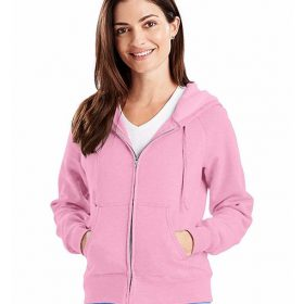 W280 Hanes Womens 8 Oz. Full-zip