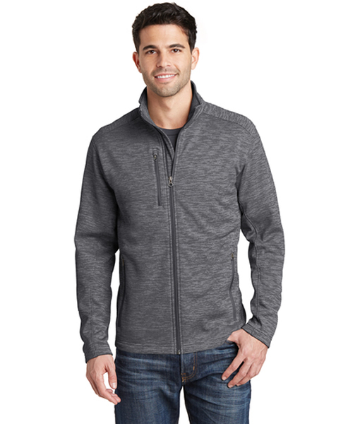F231 Port Authority® Digi Stripe Fleece Jacket