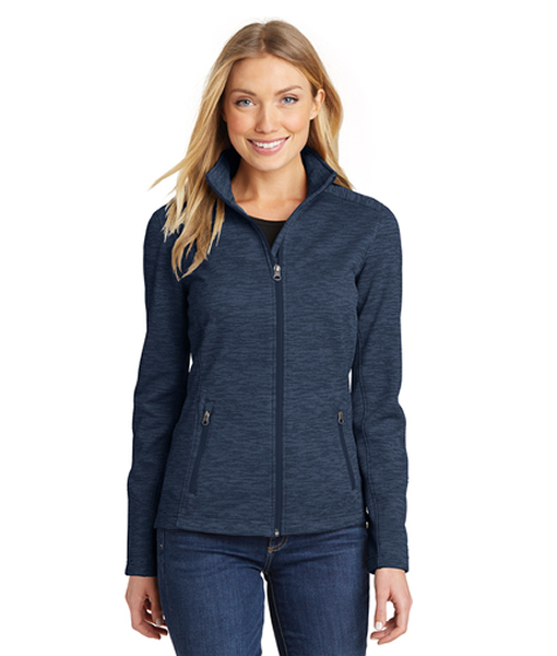 L231 Port Authority® Ladies Digi Stripe Fleece Jacket