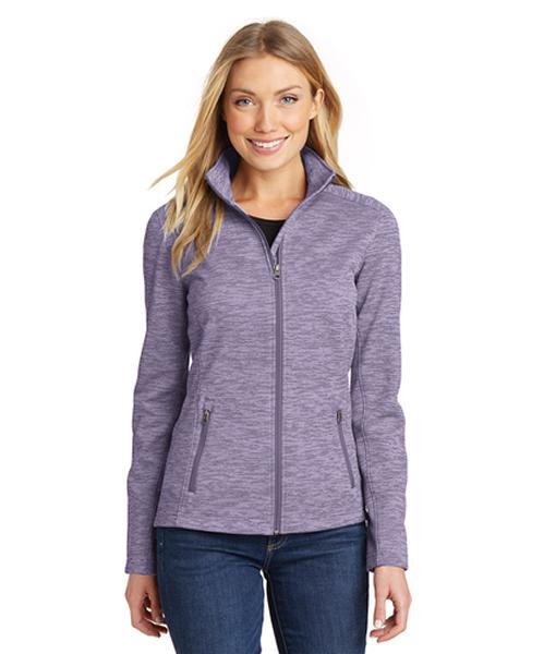 L231 Port Authority® Ladies Digi Stripe Fleece Jacket