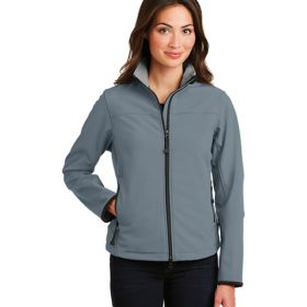 is constructed from a polyester stretch woven shell, which is then bonded to polyester microfleece