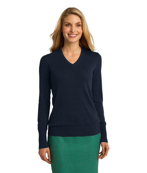 LSW285 Port Authority® Ladies V-Neck Sweater