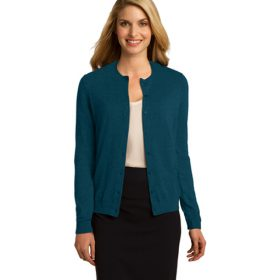 LSW287 Port Authority® Ladies Cardigan Sweater