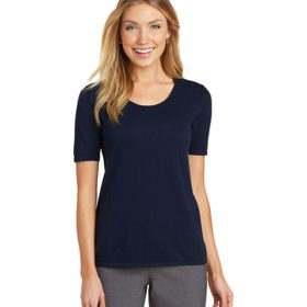 LSW291 Port Authority® Ladies Scoop Neck Sweater