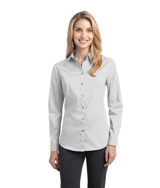 L646 Port Authority® Ladies Stretch Poplin Shirt