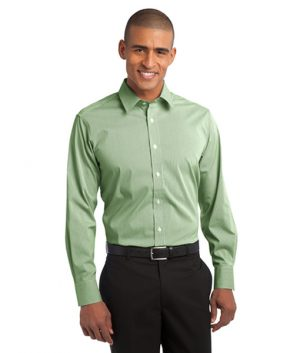 S647 Port Authority® Fine Stripe Stretch Poplin Shirt